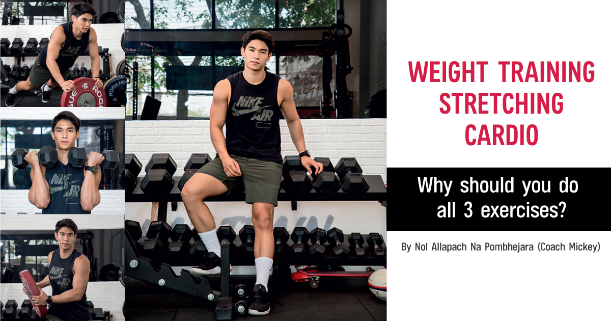 Why should you do all 3 exercises: Weight Training, Cardio and Stretching?