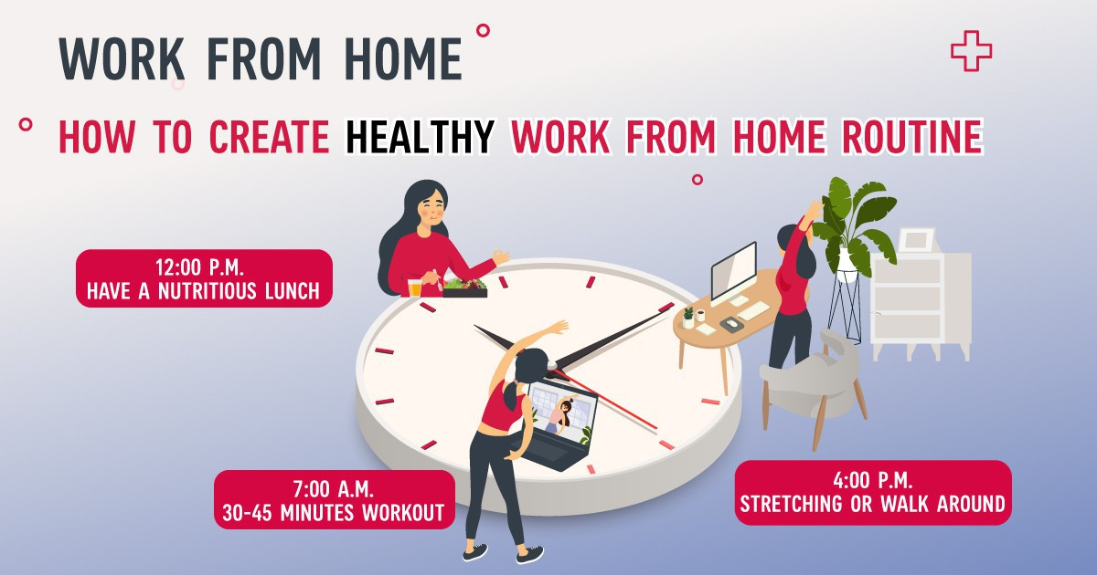 How to create Healthy Work from Home Routines