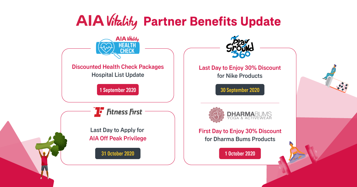AIA Vitality Benefits Update Announcement