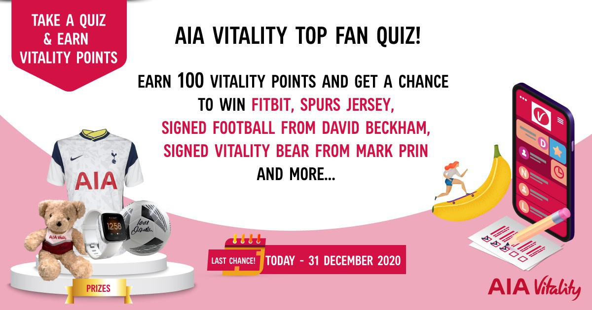Earn 100 Vitality Points in 5 minutes. Plus, get a chance to win a Fitbit!