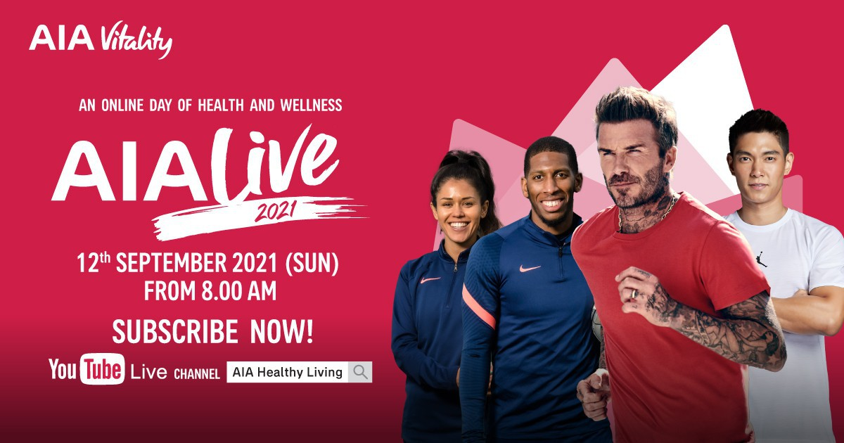 AIA Live is back! Stay tuned for the online day of health and wellness on this 12 Sep!