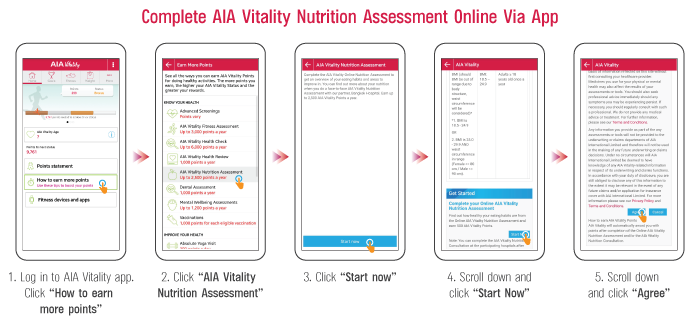 Online Nutrition Assessment | AIA Vitality